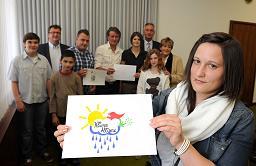 Carina Stein, die Gewinnerin des Wettbewerbs mit ihrem Logo-Vorschlag