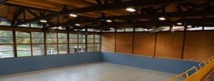 neue Beleuchtung der Sporthalle West