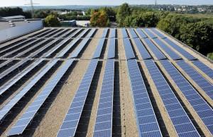 Solaranlage Volksbank Tenterweg (Foto: Volksbank / Nico Hertgen)
